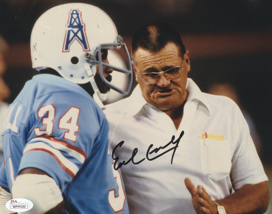 reputable site 6348a d9bf3 Earl Campbell Autograph 8x10 Photo Houston Oilers Signed JSA COA 4