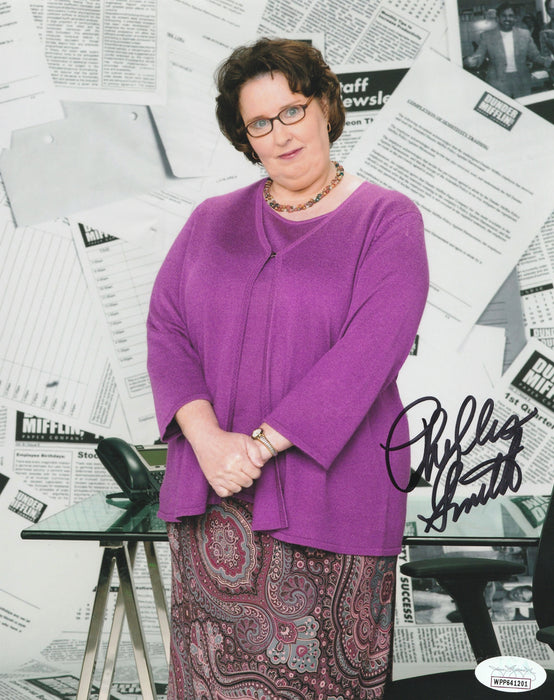 Phyllis Smith Autograph 8x10 Photo The Office Phyllis Signed JSA COA 2