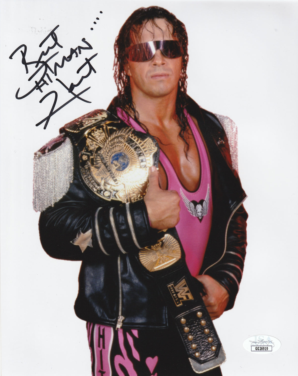 BRET HART #3 WWE FREE DELIVERY Signed Photo A5 Mounted Print