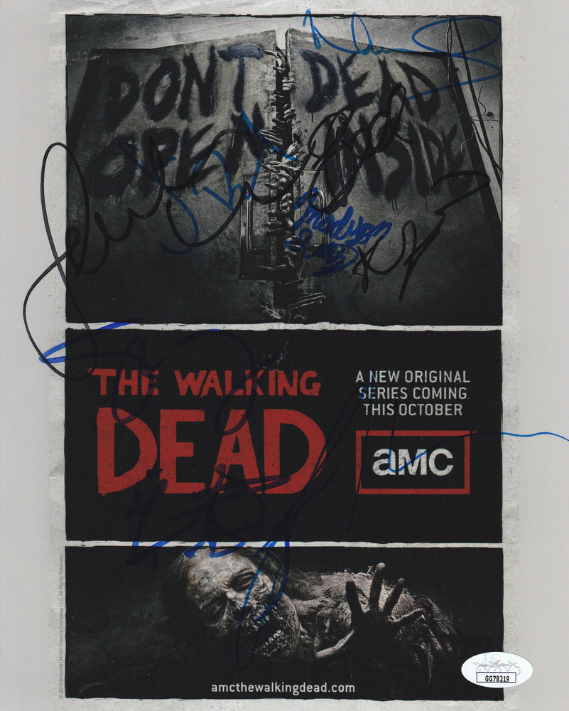 The Walking Dead Cast Autograph 8x10 Photo Signed JSA COA