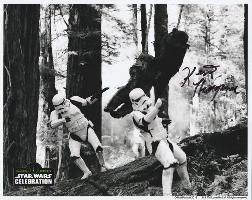 SPECIAL Kevin Thompson Autograph 8x10 Photo Star Wars Ewok Signed Zobie COA