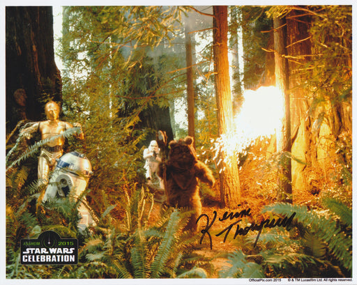 SPECIAL Kevin Thompson Autograph 8x10 Photo Star Wars Ewok Signed Zobie COA K3