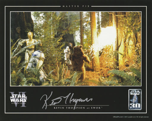 SPECIAL Kevin Thompson Autograph 8x10 Photo Star Wars Ewok Signed Zobie COA K4