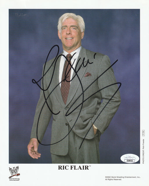 Ric Flair Autograph 8x10 Promo Photo WWF Signed JSA COA