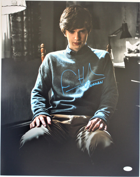 Freddie Highmore Autograph 16X20 Photo Bates Motel Signed JSA COA 2