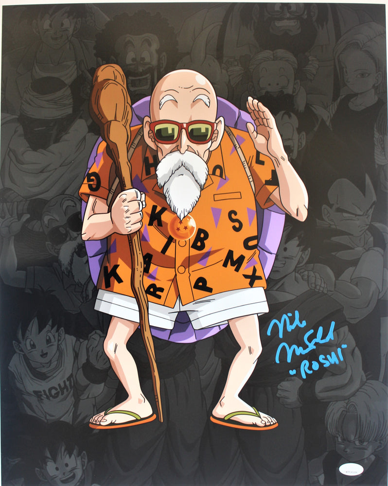 Mike McFarland Autograph 16x20 Photo Dragon Ball Z Master Roshi Signed JSA COA