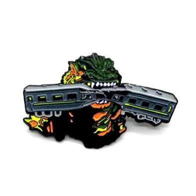 "Zobie Box - Limited Edition 2"" Enamel Lapel Pin - Godzilla - Original"