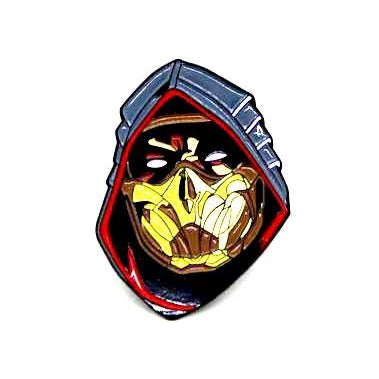 "Zobie Gamer - Limited Edition 2"" Enamel Lapel Pin - Mortal Kombat - Scorpion"