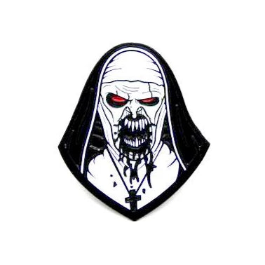 "Zobie Fright Pack - Limited Edition 2"" Enamel Lapel Pin - The Nun Variant"