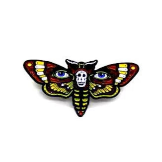 "Zobie Fright Pack - Limited Edition 2"" Enamel Lapel Pin - Silence of the Lambs - Moth Variant"