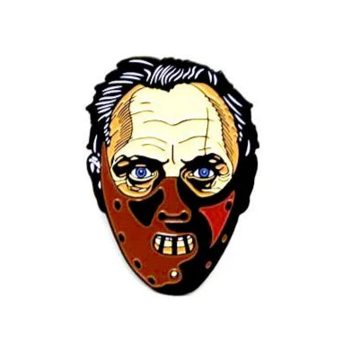 "Zobie Fright Pack - Limited Edition 2"" Enamel Lapel Pin - Silence of the Lambs - Hannibal"