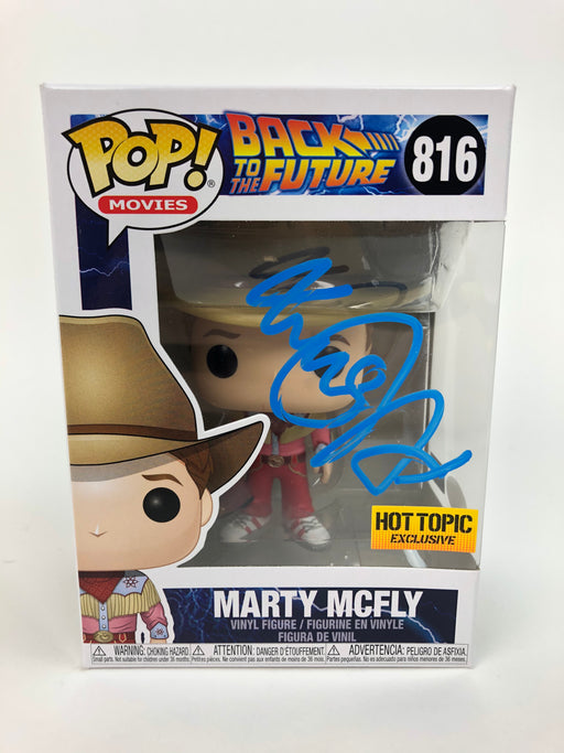 Michael J. Fox Autograph Funko POP Marty McFly HT Exclusive Signed JSA COA