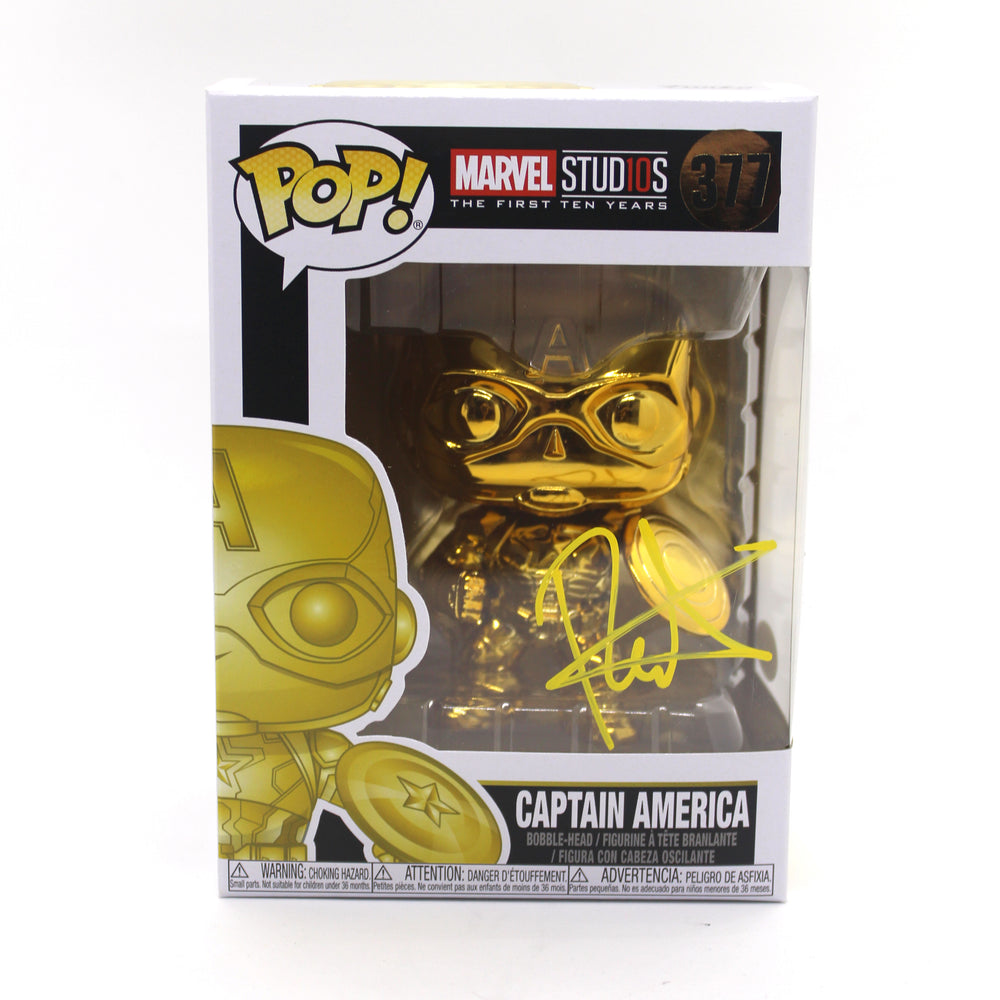 Roger Craig Smith Autograph Funko Pop Captain America Signed JSA COA Z2
