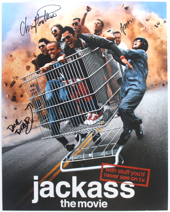 Jackass Cast Chris Preston and Dave Autograph 16X20 Photo Signed COA Z3