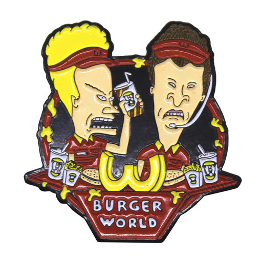 "Zobie Box - Limited Edition 2"" Enamel Lapel Pin - Beavis & Butthead - Burger World"