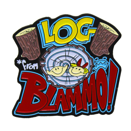 "Zobie Animation  - Limited Edition 2"" Enamel Lapel Pin - Ren & Stimpy - Log from Blammo Variant"