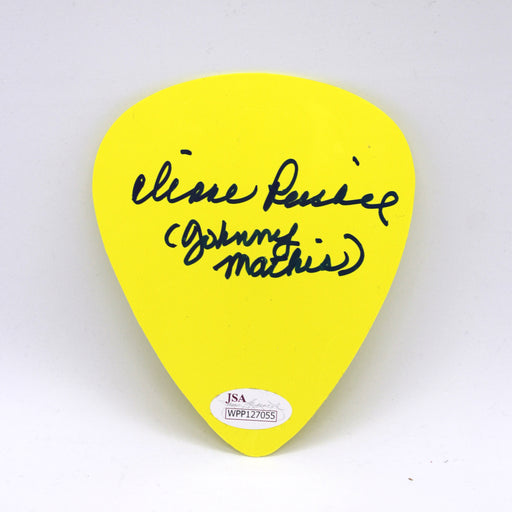 Diane Pershing Autograph Oversized Guitar Pick Johnny Mathis Signed JSA COA