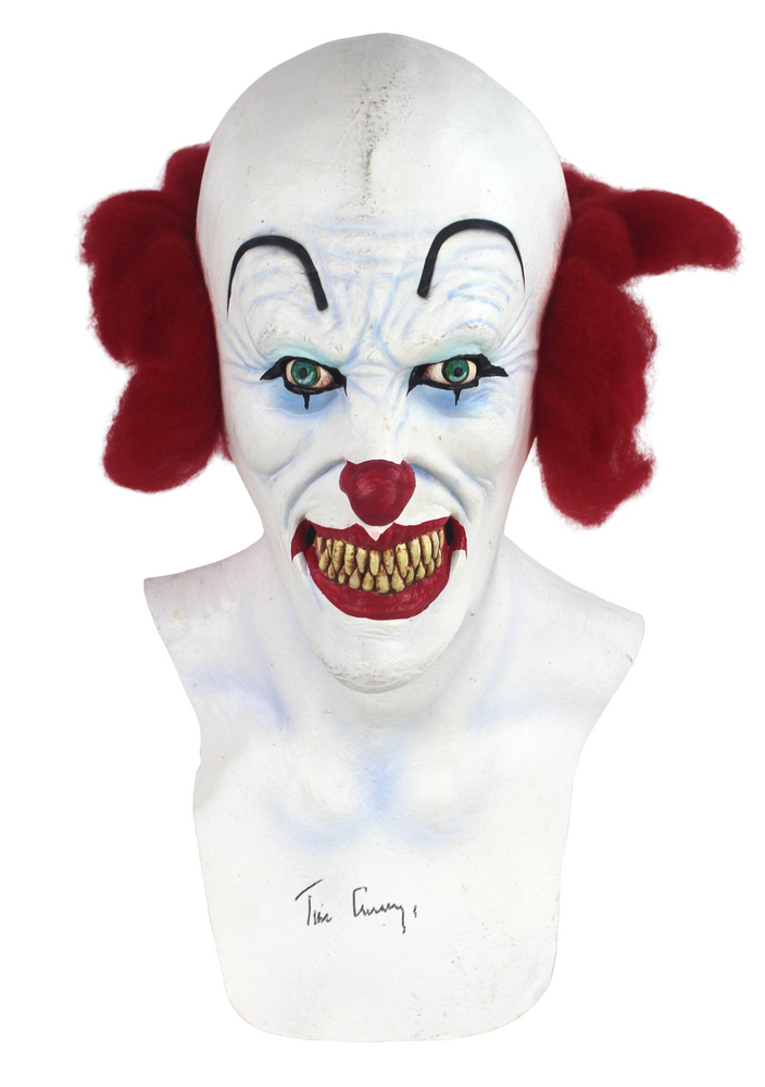 Tim Curry Autograph IT Pennywise Mask Signed JSA COA