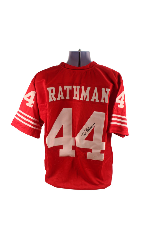 Tom Rathman Autograph San Francisco 49ers Custom Jersey Signed JSA COA