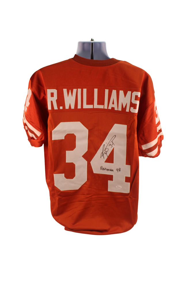 Ricky Williams Autograph Texas Longhorns Custom Jersey Signed JSA COA