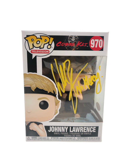 William Zabka Autograph Funko POP Cobra Kai Johnny Lawrence No Mercy 970 JSA
