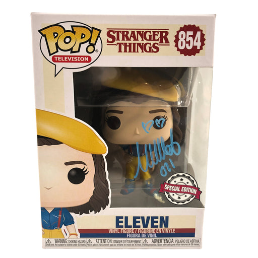 Millie Bobby Brown Autograph Funko POP Stranger Things Eleven #854 JSA COA