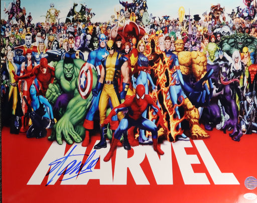 Stan Lee Autograph 16x20 Photo Marvel Team Signed JSA COA