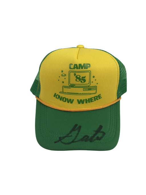 Gaten Matarazzo Autograph Stranger Things Dustin Camp Know Where Hat Signed JSA