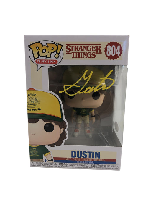 Gaten Matarazzo Signed FUNKO POP Stranger Things Dustin #804 JSA COA