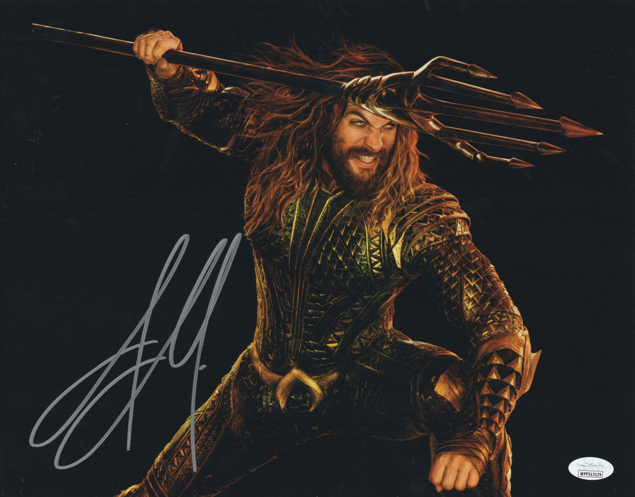 Jason Momoa Autograph 11x14 Aquaman Photo DC Signed JSA COA A6