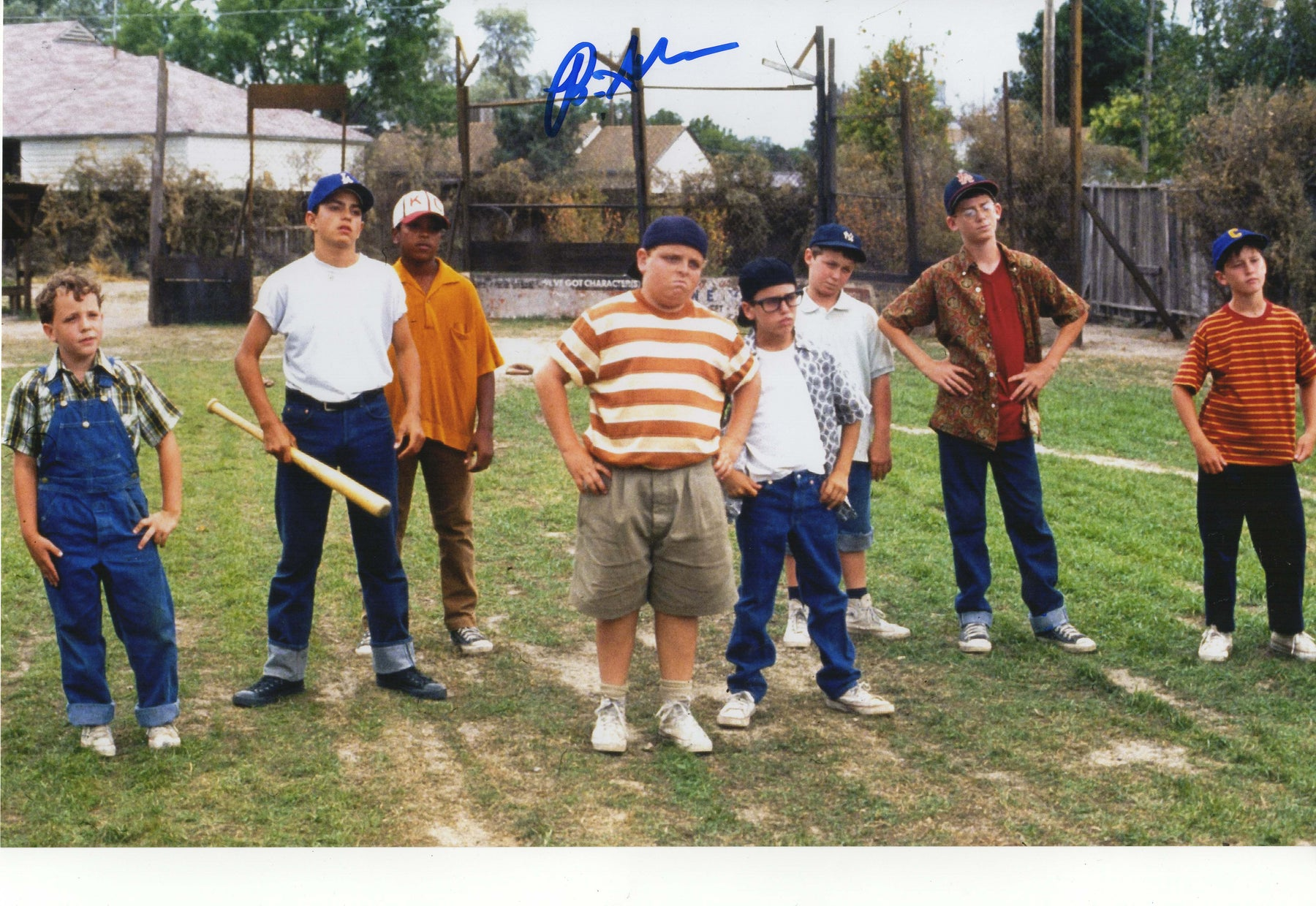 Brandon Adams Autograph 11x17 Photo Sandlot Signed COA