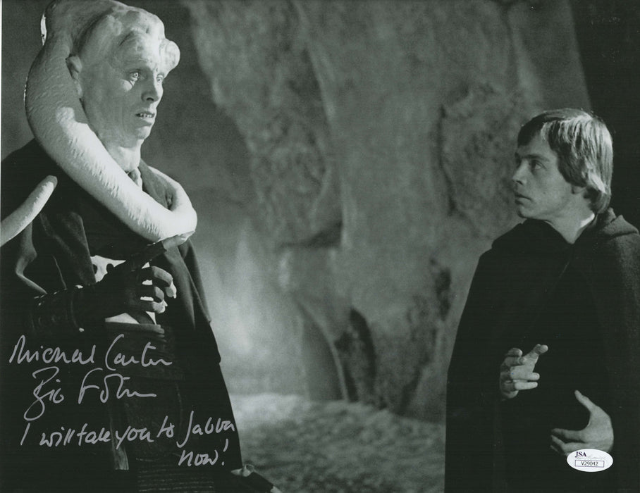 Michael Carter Signed 11x14 Photo Autograph Star Wars Bib Fortuna in Return of the Jedi JSA M3