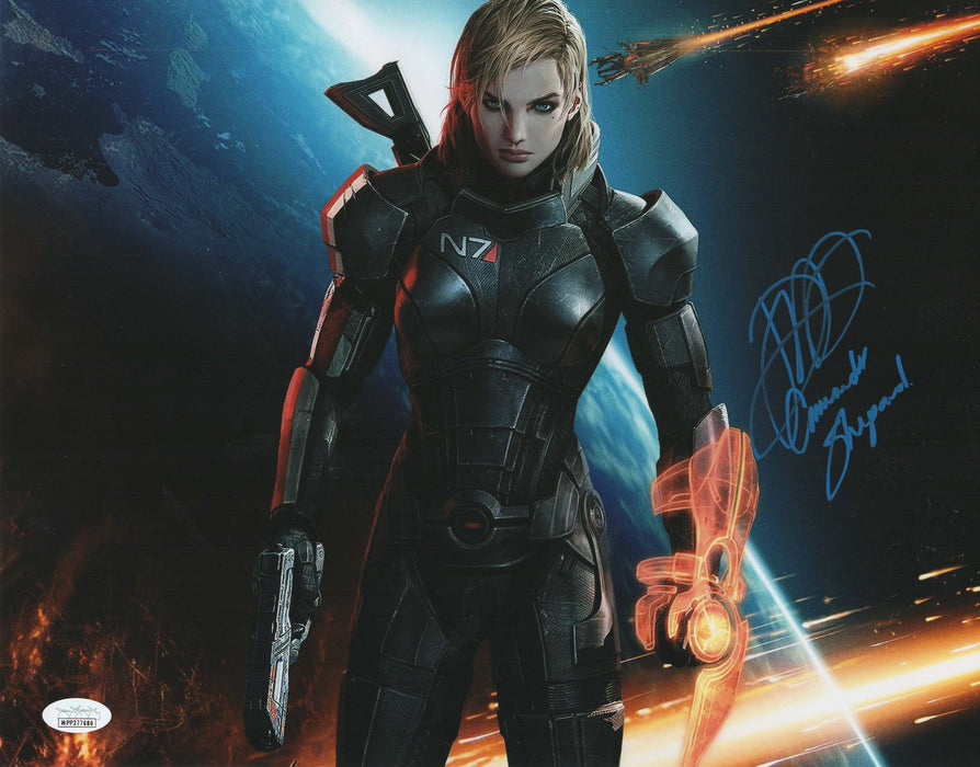Jennifer Hale Autograph 11x14 Photo Mass Effect Shepard Signed JSA COA