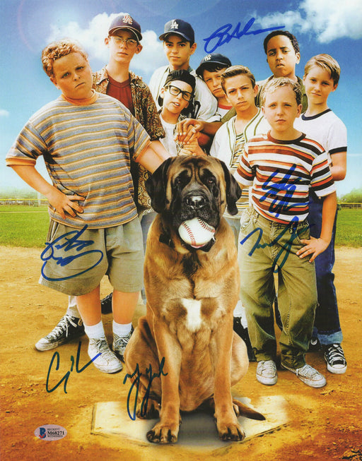 The Sandlot Cast Autograph 11x14 Photo 6 Guiry, Leopardi, Adams +3 BAS COA
