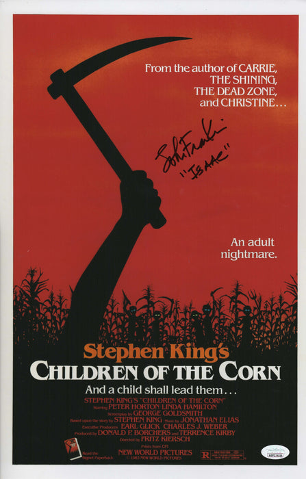 John Franklin Autograph Children of the Corn Mini Poster 11x17 Signed JSA COA