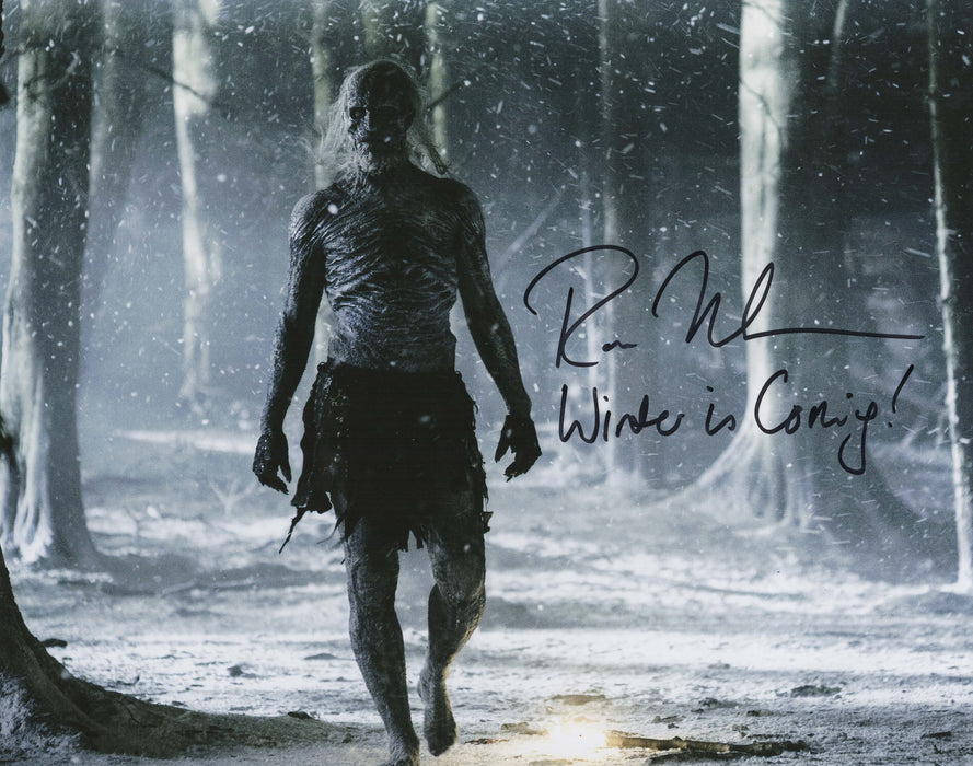 Ross Mullan Autograph 11x14 Photo Game of Thrones White Walker COA 1