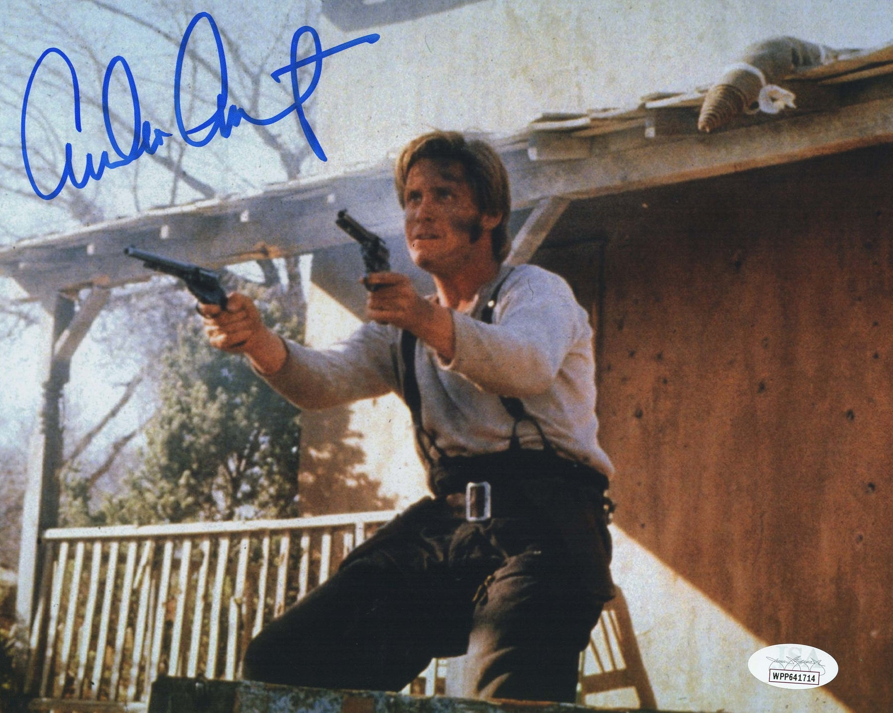 Emilio Estevez Autograph 8x10 Photo Young Guns Signed JSA COA 4