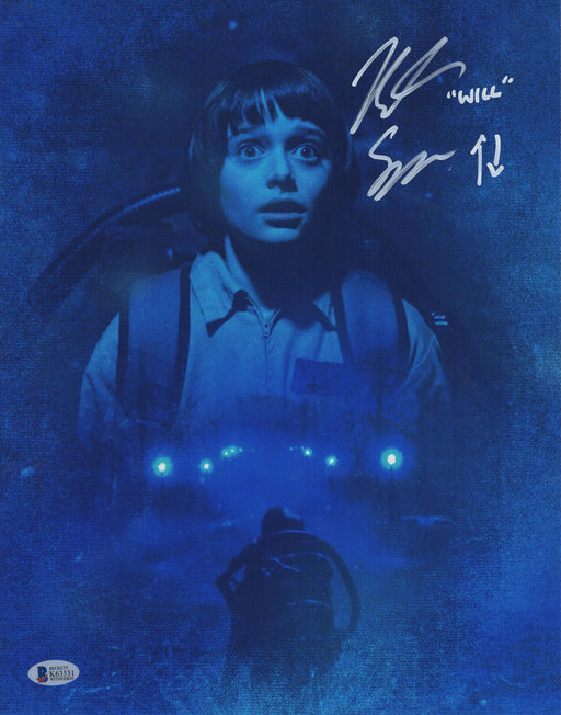 Noah Schnapp Signed 11x14 Photo Autograph WILL Stranger Things BAS COA 2