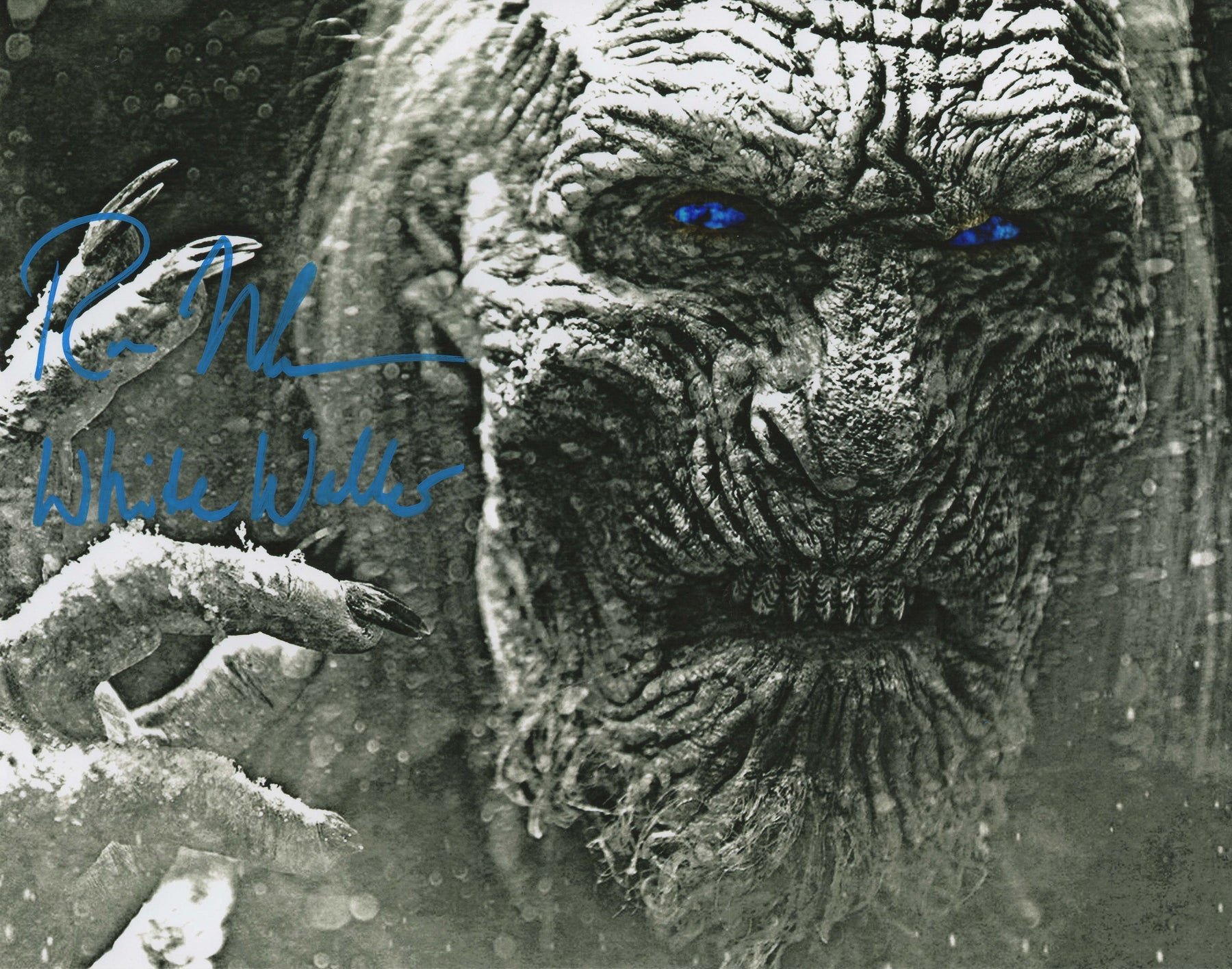 Ross Mullan Autograph 11x14 Photo Game of Thrones White Walker COA 2