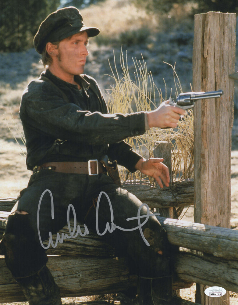 Emilio Estevez Autograph 11x14 Photo Young Guns Signed JSA COA 3