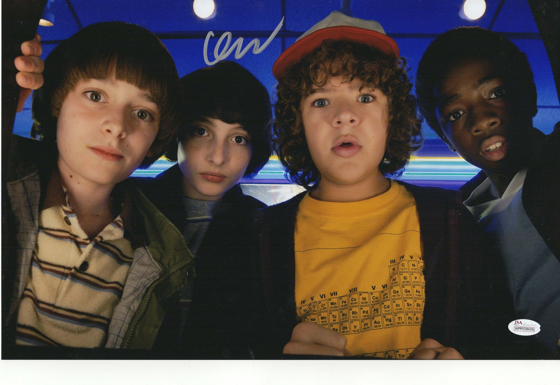 Finn Wolfhard Authentic Signed 11x17 Photo Stranger Things Mike Wheeler JSA COA 3