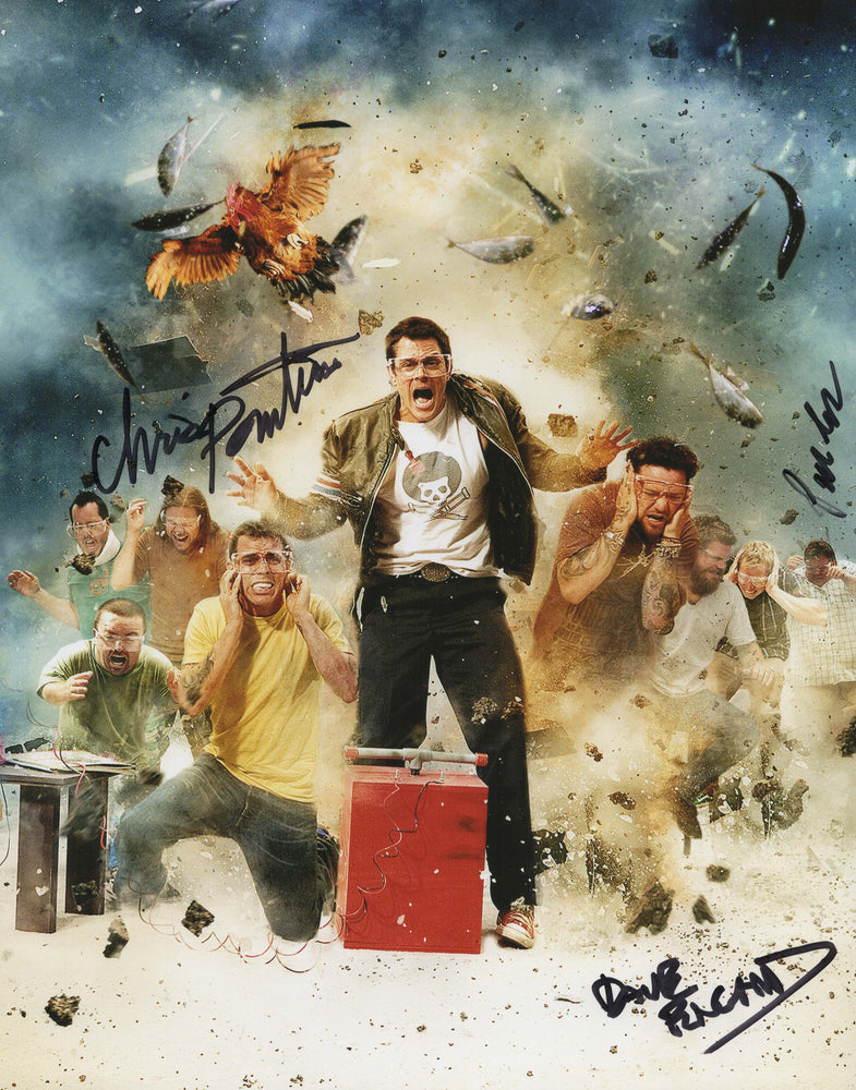 Jackass Cast Chris Preston and Dave Autograph 11x14 Photo Signed COA 2