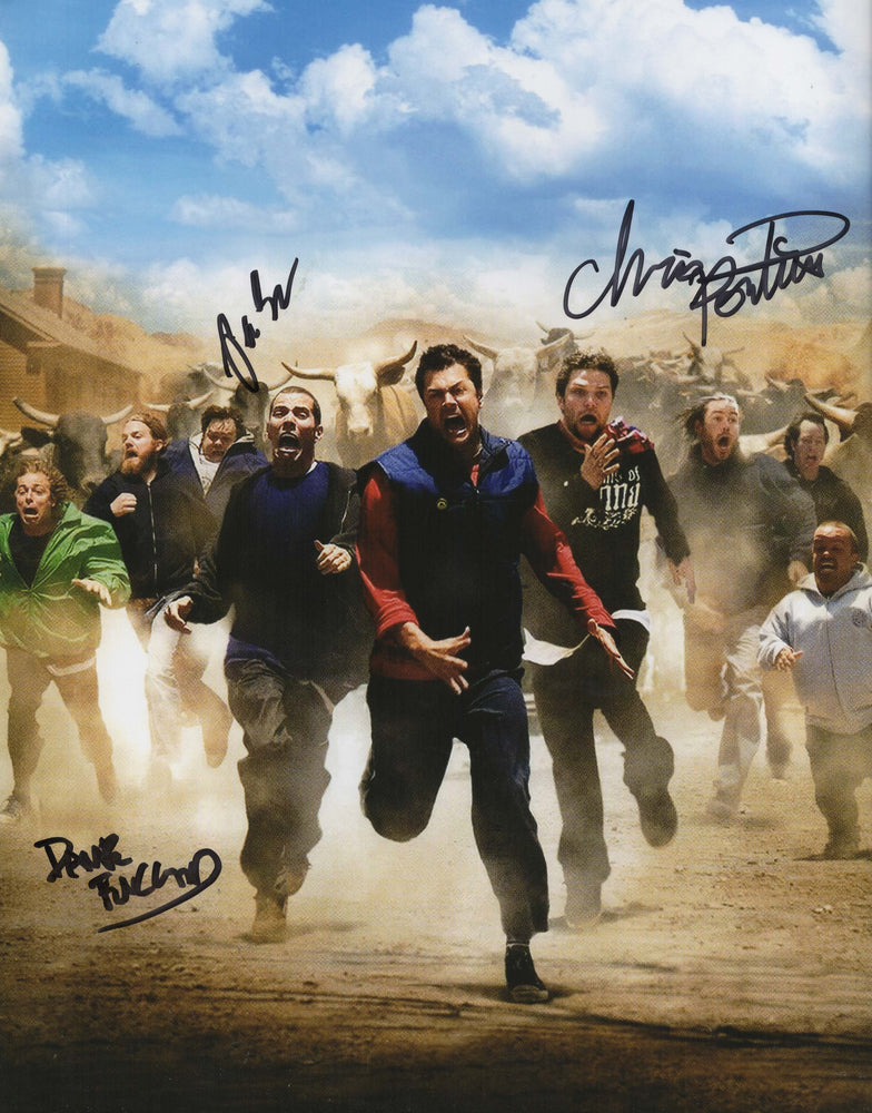 Jackass Cast Chris Preston and Dave Autograph 11x14 Photo Signed COA 3