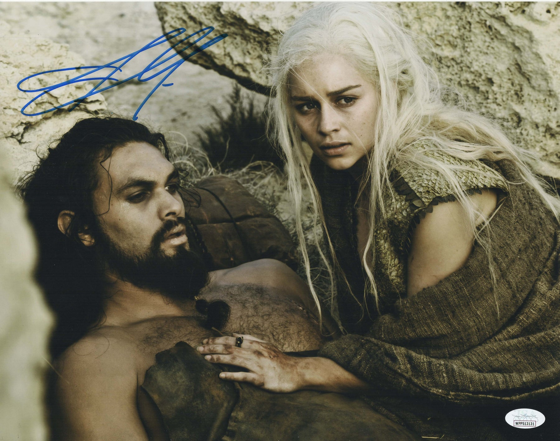 Jason Momoa Autograph 11x14 Photo Game of Thrones Khal Drogo Signed JSA 3