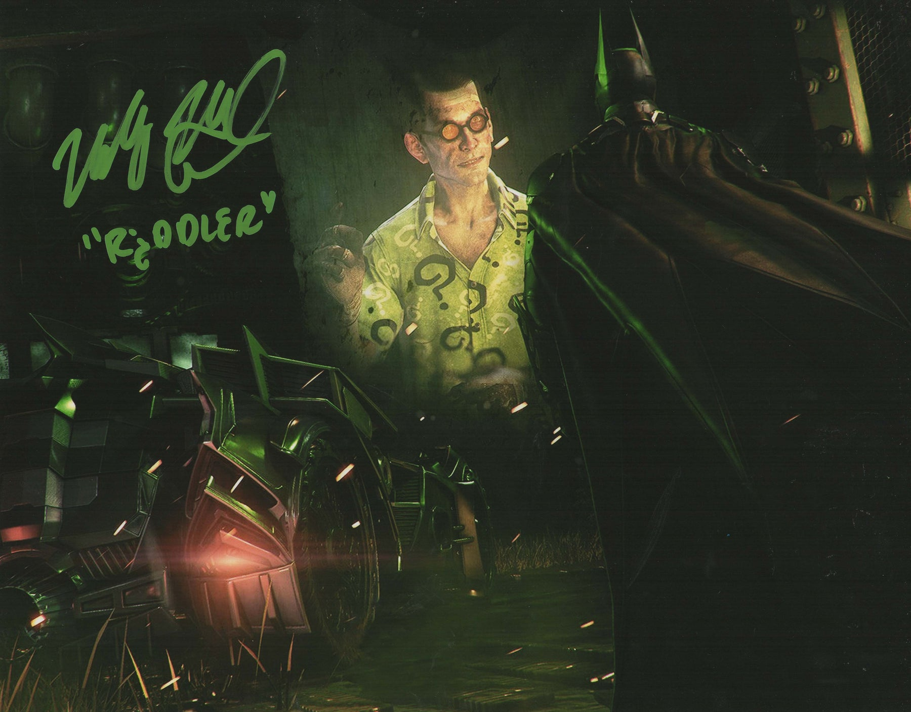 Wally Wingert Autograph 11x14 Photo Voice of Riddler Batman Arkham Series COA