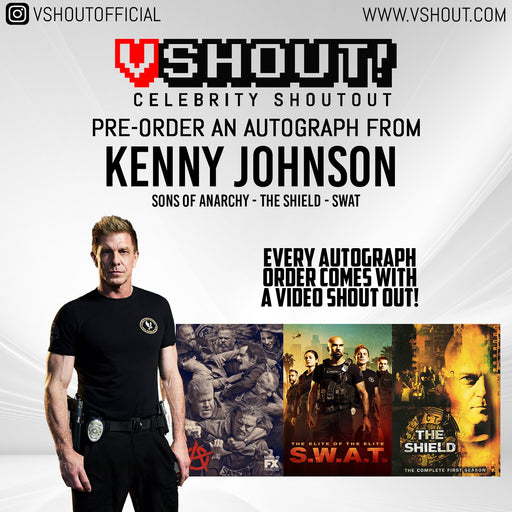 Kenny Johnson Official Zobie vShout! Autograph Pre-Order