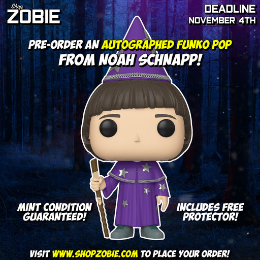 Stranger Things Will the Wise Pop! Presale Autographed by Noah Schnapp