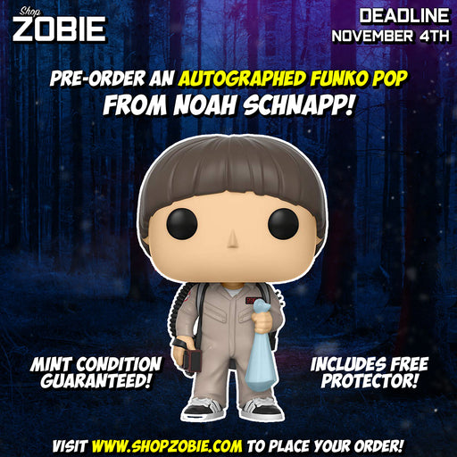 Stranger Things Ghostbuster Will Pop! Presale Autographed by Noah Schnapp