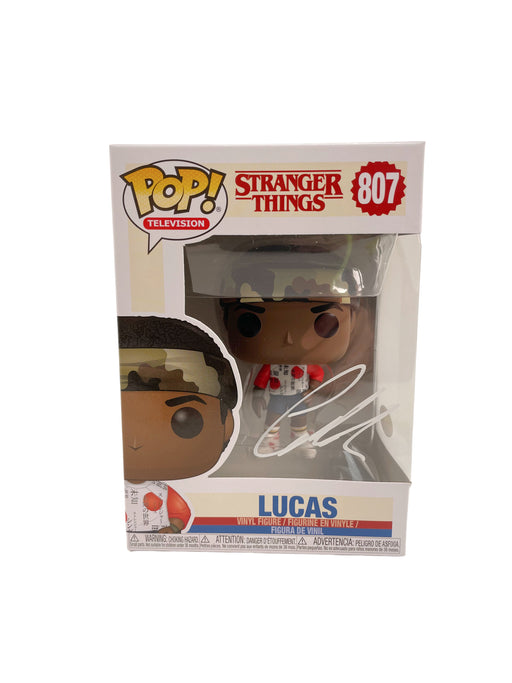 Caleb McLaughlin Autograph Funko POP Stranger Things #807 Lucas Signed JSA COA