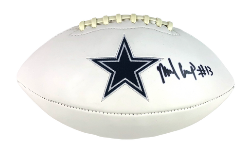 Michael Gallup Autograph Full Size Football Dallas Cowboys Signed JSA COA